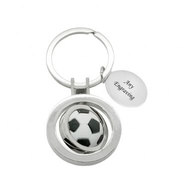 Engraved Football Keyring | Someone Remembered